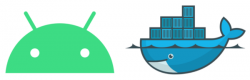 Android and Docker logos